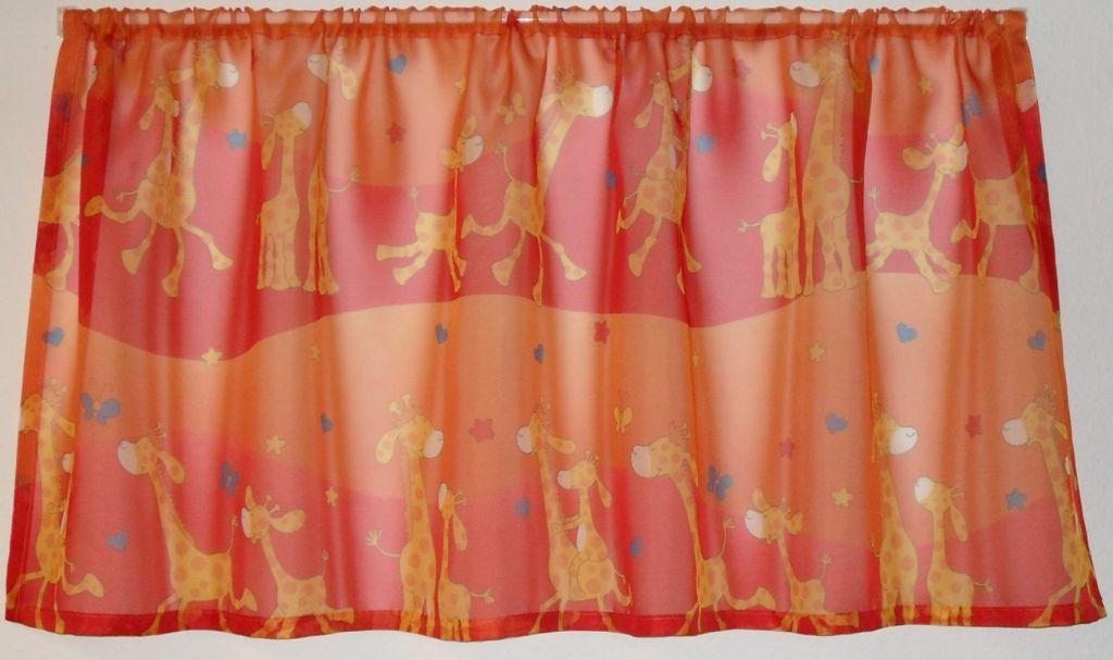 giraffen kinderzimmer gardinen farbig scheer gardinen. Black Bedroom Furniture Sets. Home Design Ideas